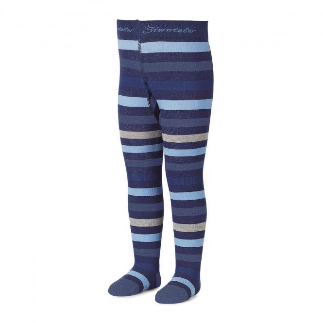 Jungen Strumpfhose mit Streifen von Sterntaler, blau - 8701700b