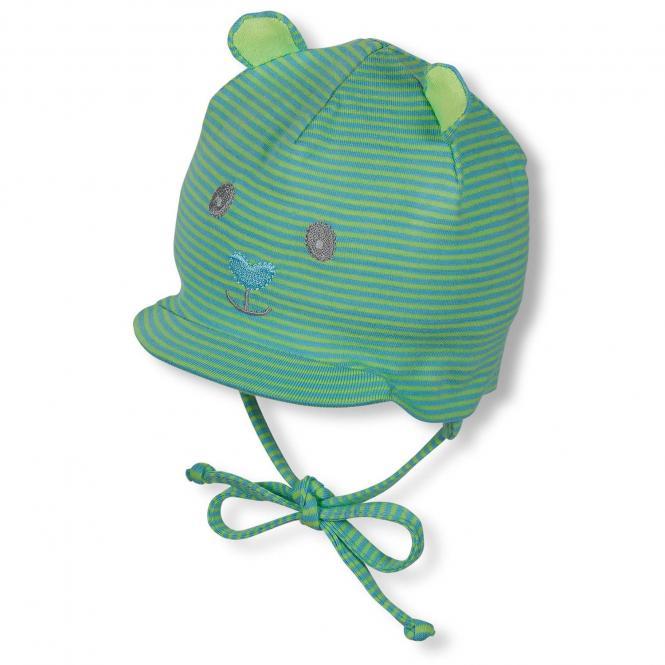 Schildmütze Schirmmütze zum Binden Baby Jungen, grün