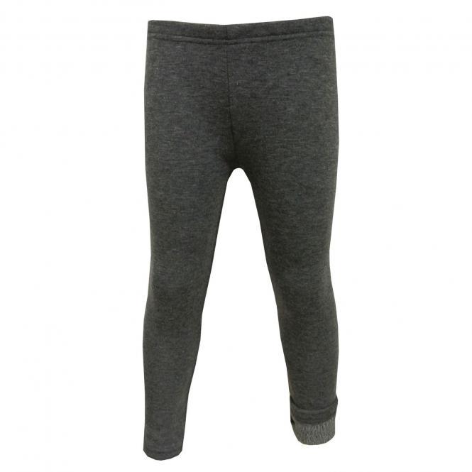 Mädchen Leggings Fleece, Grau