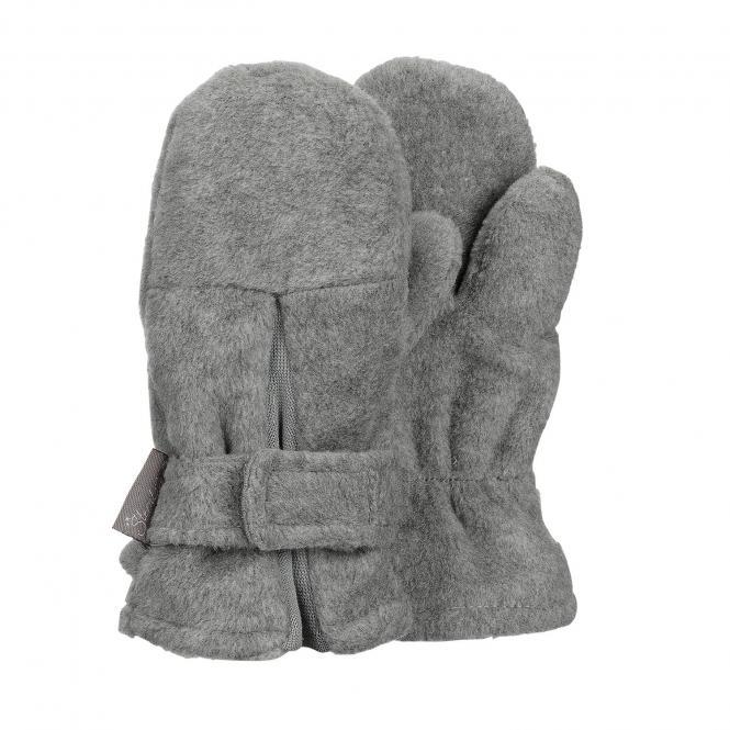 "Jungen Fäustlinge Handschuhe Fleece mit Klettverschluss ""Falte"", silber mel. - 4301430"
