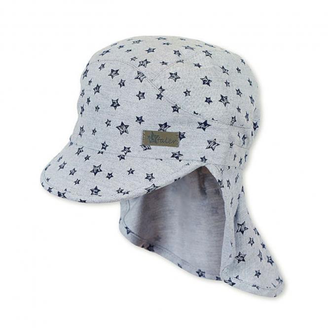 Jungen Schirmmütze, Sommermütze mit Nackenschutz, UV-Schutz 50+, grau - 1621919