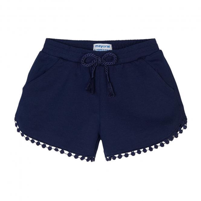 Mädchen Sommer  kurze Short dunkelblau- 607db