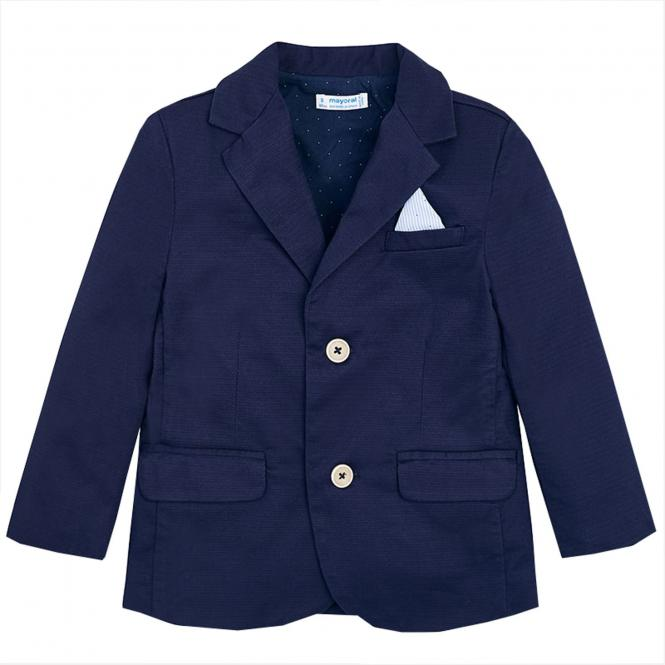 Jungen Blazer festliche Jacke Anzugsjacke, blau - 3452