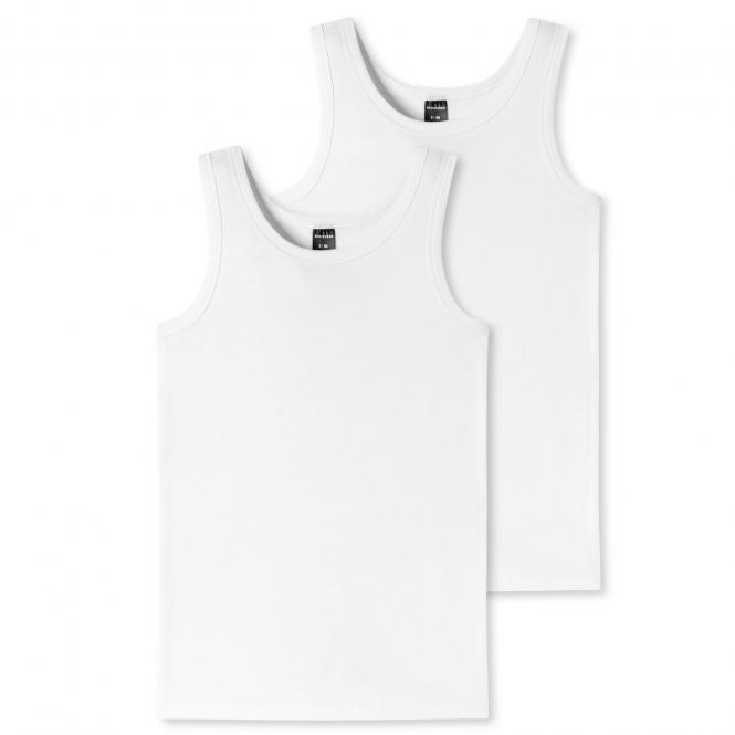 Jungen Tank Top Unterhemd Doppelpack Basic, weiß - 173538