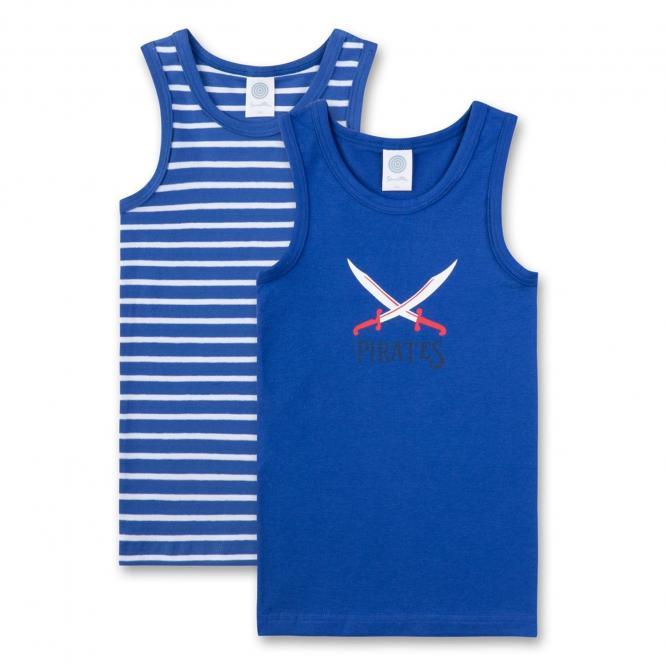 Jungen Hemd Unterhemd Doppelpack Pirat, blau - 334366
