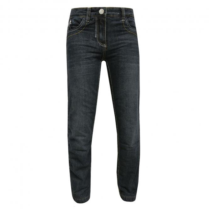 Mädchen Kinder Thermohose Slim Jeans, blau - 4567304