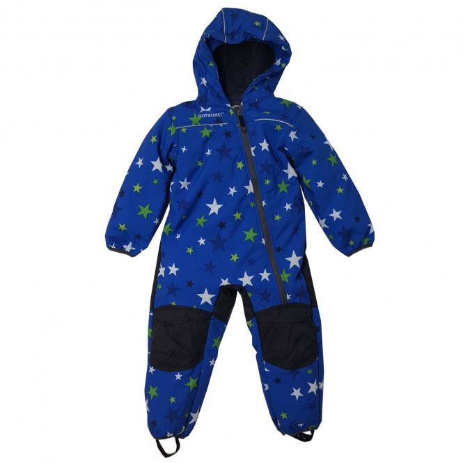 Jungen Softshell Overall Schneeanzug 10.000mm Wassersäule, blau - 3712710