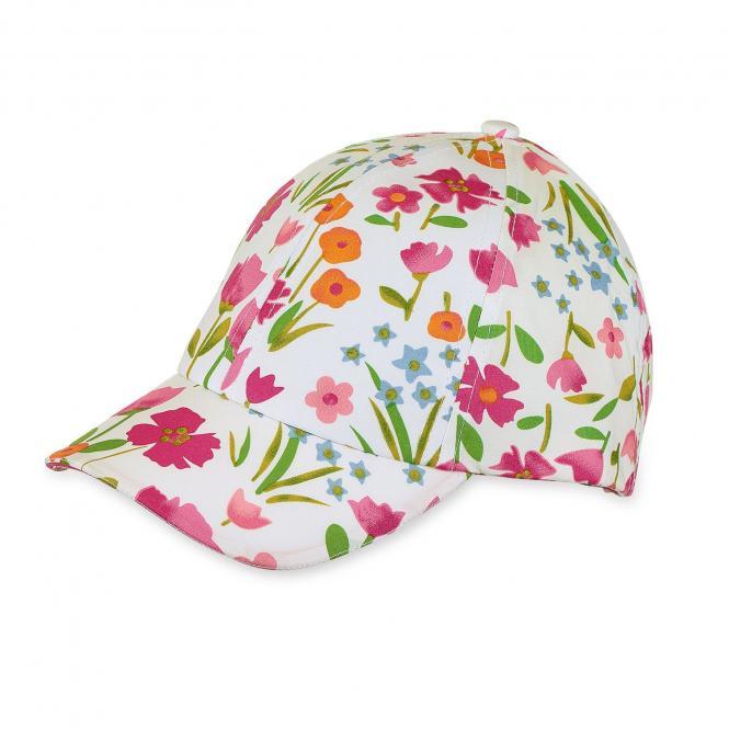 Mädchen Schirmmütze Cappi Frühlingsmuster, magenta - 1421803