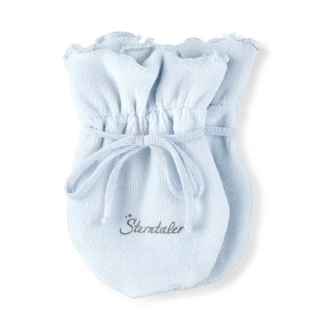 Baby Mädchen Faust Handschuhe Kratzfäustel, blau - 4001485