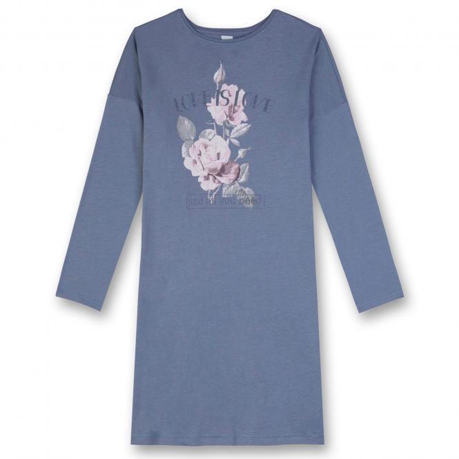 Mädchen Nachthemd Schlafanzug Pyjama mit Blumen, lila - 244305