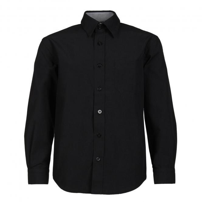 Festliches Hemd langarm Jungen, schwarz - 55119sch