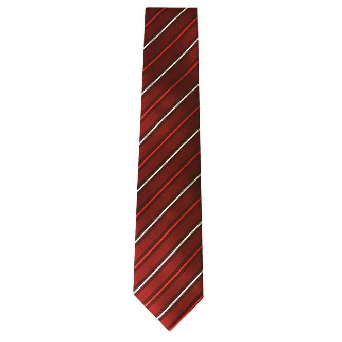 Jungen Schlips Krawatte zum binden gestreift, rot - 40088