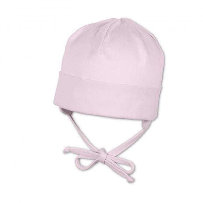 Sterntaler Baby Mädchen Erstlingsmütze zum Binden mit Ohrenschutz und UV-Schutz 50+, rosa - 1501400