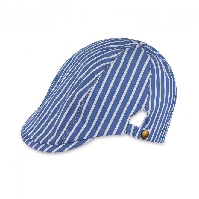 Jungen Schirmmütze Schiebermütze blau-weiß gestreift, jeansblau - 1621860