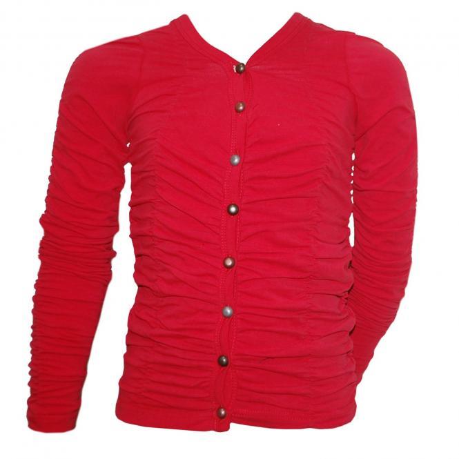 Mädchenjacke Langarmshirt, rot