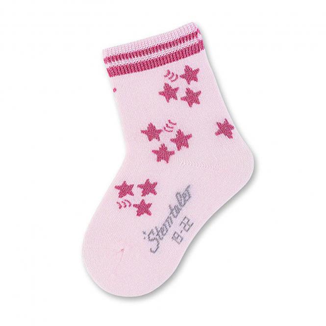 Mädchen Socken mit glitzernden Sternen Sterntaler, rosa - 8421700