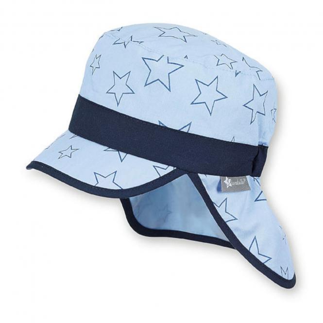 Jungen Schirmmütze, Sommermütze mit Nackenschutz, UV-Schutz 15, blau - 1611948