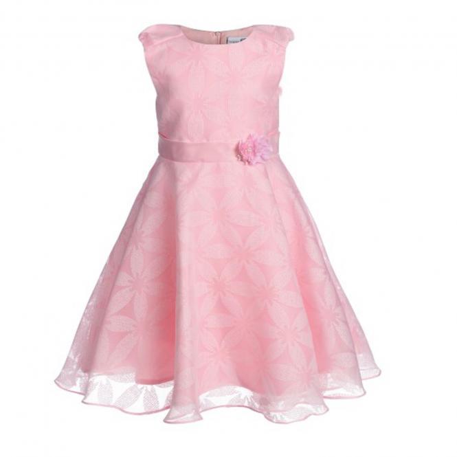 Eisend Mädchen Festkleid Sommer Kleid mit Blumenmuster, rosa - 594135