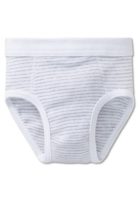 Jungen Unterhose Sportslip gestreift, grau - 130900