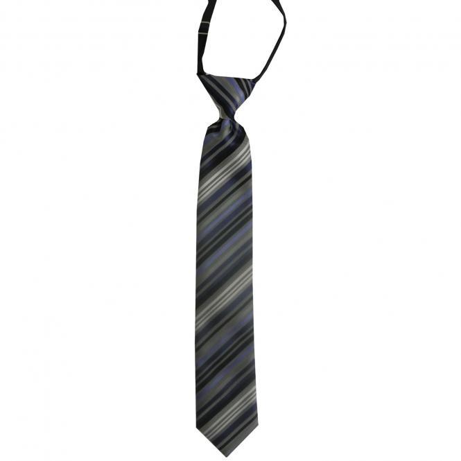 Jungen Schlips Krawatte gestreift, blau