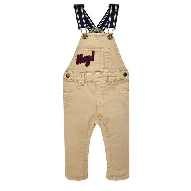 Jungen Latzhose Jeans Hose, beige - 2.666