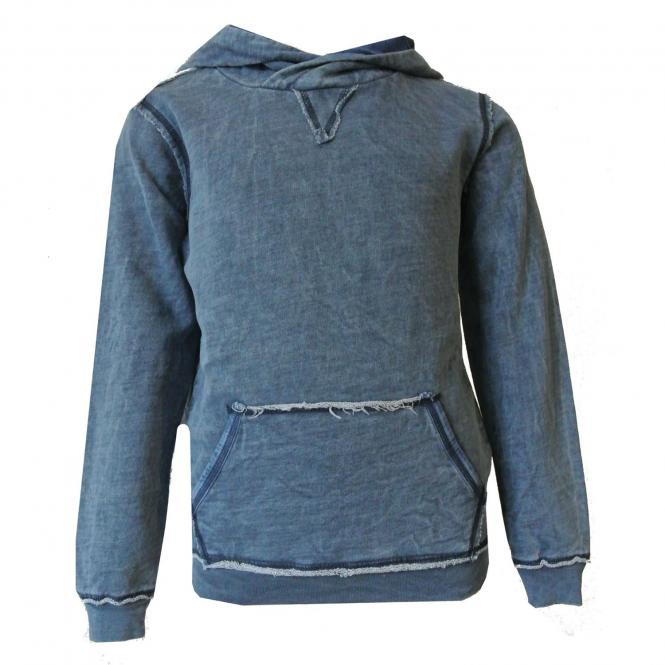 Jungen Sweater Used-Look, blau - 2172-6657