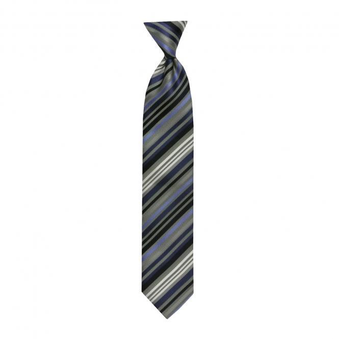 Schlips Krawatte Jungen gestreift, blau