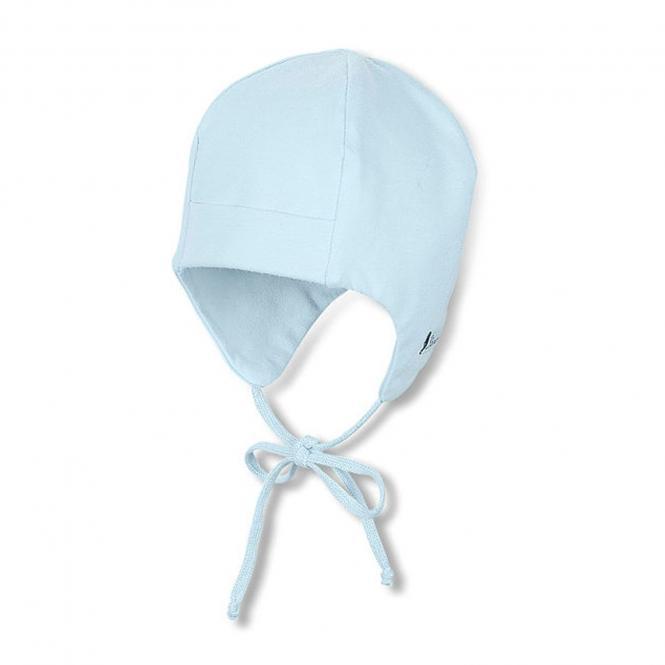 Sterntaler Baby Jungenmütze Erstlingsmütze zum Binden mit Ohrenschutz und UV-Schutz 50+, blau - 4001455-bleu