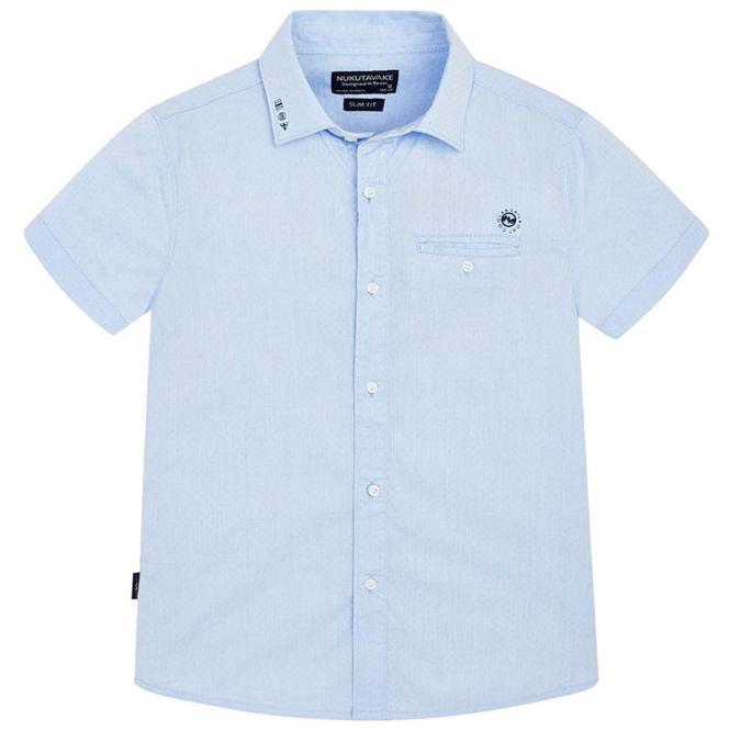 Mayoral festliches kurzarm Jungenhemd, hellblau - 6.124hb