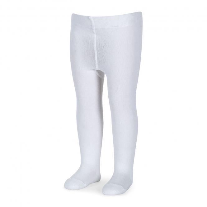 Mädchen Strumpfhose einfarbig, weiß - 8601630