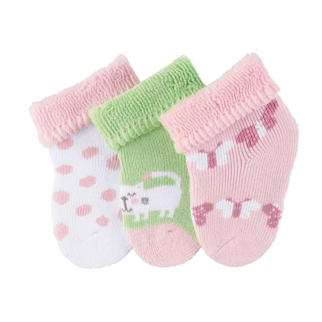 """Baby Mädchen Erstlingssöckchen Neugeborenen Socken Plüsch 3er-Pack Babysöckchen 3 Paar gefüttert """"Katze/Schmetterlinge"""", rosa – 8202003"""