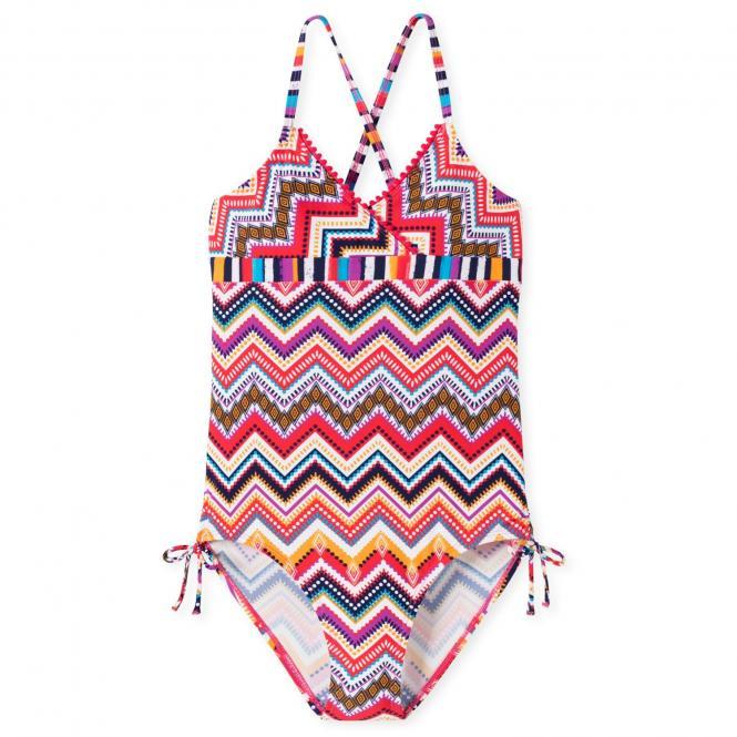 Schiesser Mädchen Triangle - Badeanzug gemustert, multicolor – 164733