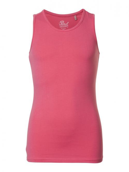 Mädchen Tank Top T-Shirt ärmellos einfarbig, pink - sl210p
