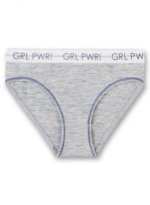 Mädchen Rio-Slip meliert, blau grau - 345209