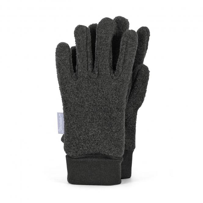 Jungen Handschuhe Fingerhandschuh Fleece, anthrazit mel. - 4331410