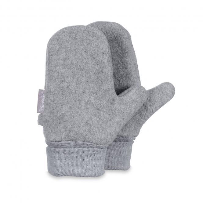 Jungen Fäustlinge Handschuhe Fleece, hellgrau - 4301620