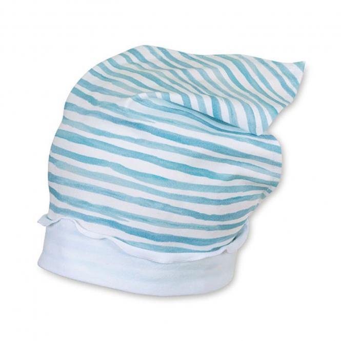 Mädchen Kopftuch, weiß blau gestrefit - 1451901