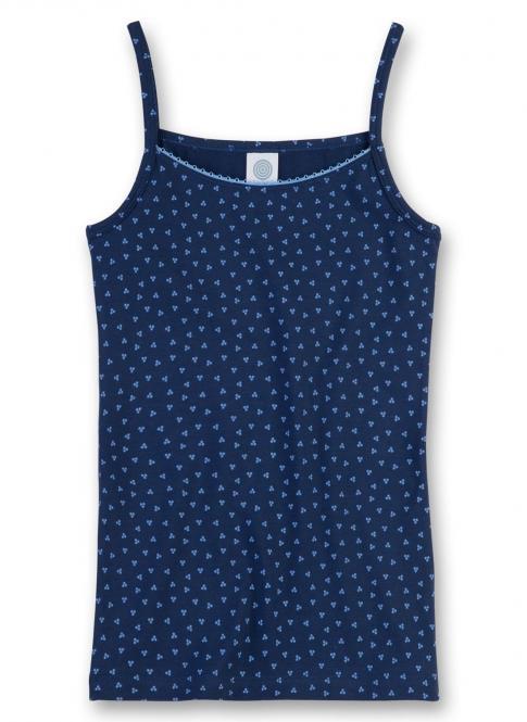 Mädchen Unterhemd blaue Punkte, blau - 344758