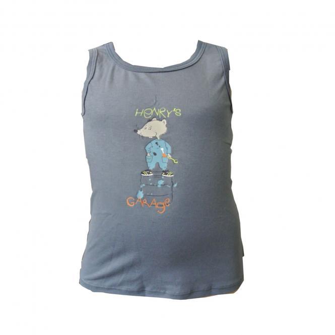 Jungen Unterhemd mit Hamstermotiv, grau - 163412