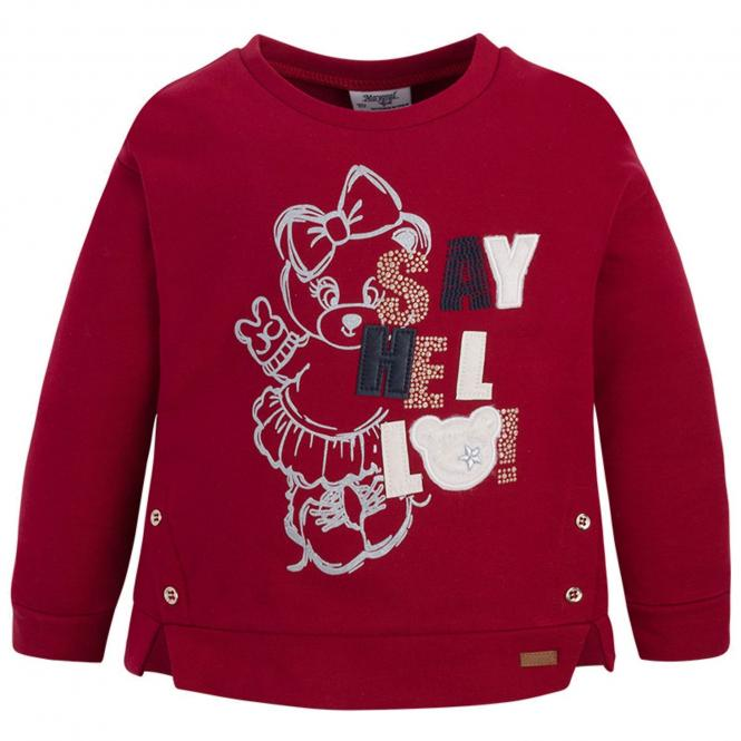 Mädchen Sweater Pullover, rot - 4419
