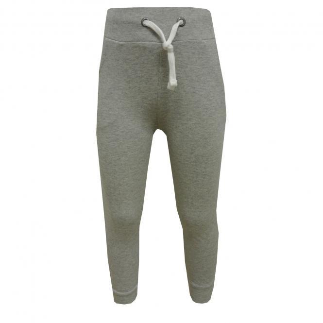Jungen und Mädchen Jogger-Hose einfarbig, Grau