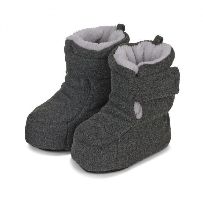 Baby Schuhe Jungen gefüttert mit Stoppern und Klettverschluss, anthrazit mel. - 5101616