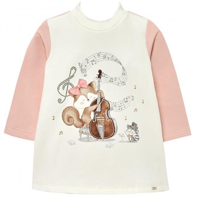 Mädchen Kleid mit langen Armen  Winterkleid, rosa - 2.946r