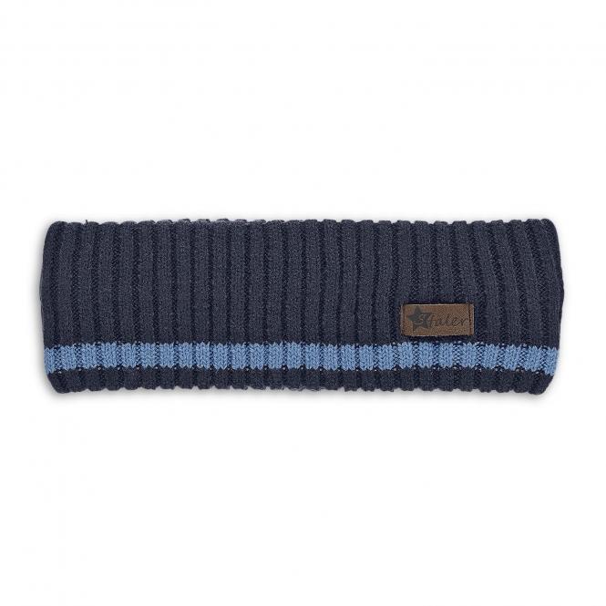 Jungen Strick-Stirnband, marineblau - 4851901