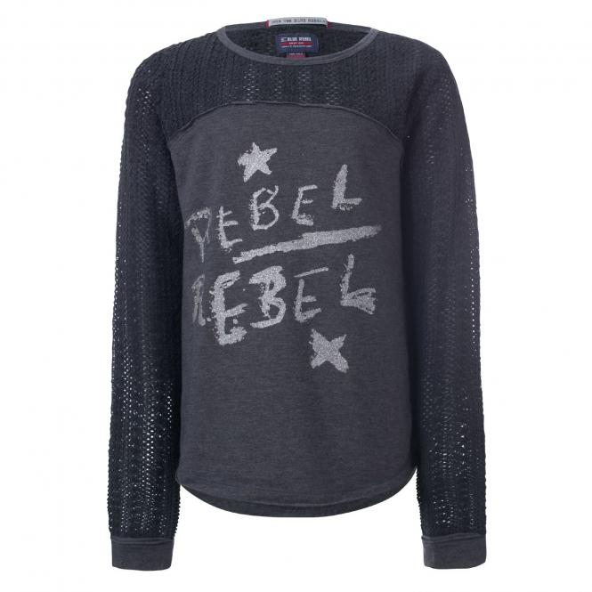 Mädchen Langarmshirt Rebel, grau - 7246001
