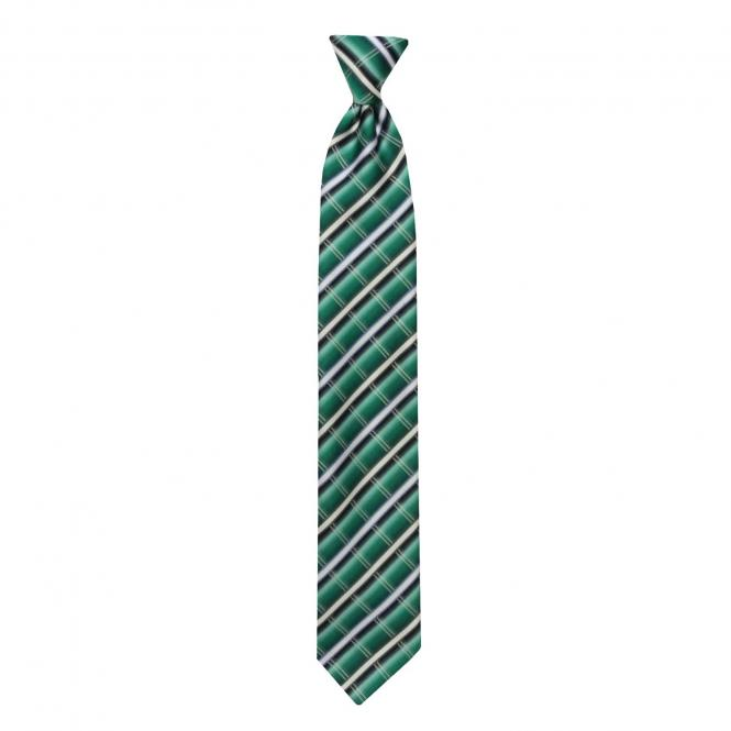 Schlips Krawatte Jungen kariert, grün