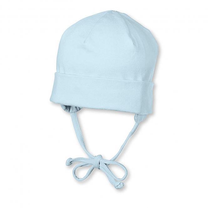 Sterntaler Baby Erstlingsmütze Jungenmütze zum Binden mit Ohrenschutz und UV-Schutz 50+, blau - 1501400-bleu