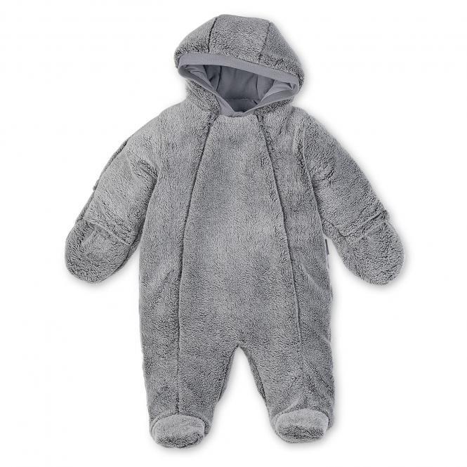 Baby Overall Jungen Plüsch, grau - 5501781