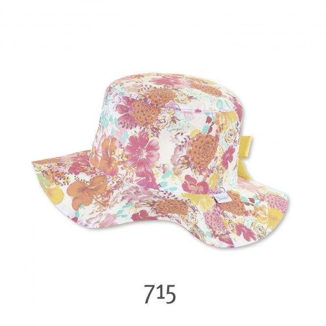Sonnenhut Fischerhut Sommermütze Mädchen Blümchen-Musterung, mehrfarbig