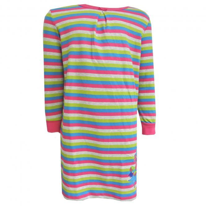 Mädchen Nachthemd gestreift, mehrfarbig